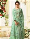image of Jennifer Winget Festive Wear Palazzo Salwar Suit With Embroidery Work