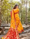photo of Weaving Work And Blouse With Orange Color Party Wear Saree In Art Silk Fabric