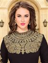photo of Attractive Brown Color Designer Salwar Suit With Embroidery Work