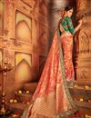 photo of Wedding Special Weaving Work Traditional Fancy Saree in Banarasi Silk
