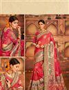 image of Wedding Special Weaving Work Banarasi Silk Red Fancy Designer Saree