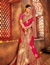 photo of Weaving Work Pink Designer Saree with Fancy Blouse