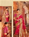 image of Weaving Work Pink Designer Saree with Fancy Blouse