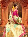photo of Wedding Special Weaving Work Fancy Designer Beige Saree