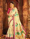 image of Wedding Special Weaving Work Fancy Designer Beige Saree