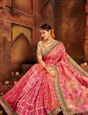 photo of Wedding Special Weaving Work Pink Designer Wedding Wear Saree