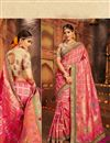 image of Wedding Special Weaving Work Pink Designer Wedding Wear Saree