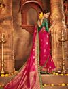 photo of Weaving Work Banarasi Silk Magenta Fancy Designer Saree