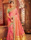 image of Weaving Work Banarasi Silk Traditional Designer Saree