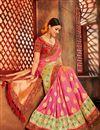 photo of Wedding Special Wedding Wear Banarasi Silk Weaving Work Pink Fancy Saree