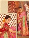image of Wedding Special Wedding Wear Banarasi Silk Weaving Work Pink Fancy Saree