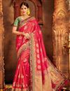 image of Weaving Work Designer Banarasi Silk Wedding Wear Saree
