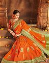 photo of Weaving Work Function Wear Banarasi Silk Saree