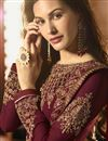 photo of Georgette Party Wear Designer Embroidered Anarkali Suit In Maroon
