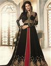 image of Black Party Wear Georgette Embroidered Designer Anarkali Suit