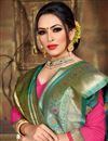 photo of Cyan Art Silk Party Wear Fancy Weaving Work Saree