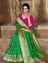 photo of Party Wear Art Silk Fancy Weaving Work Saree In Green