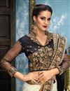 photo of Wedding Function Wear Multicolor Embellished Saree In Fancy Fabric