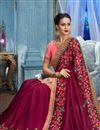 photo of Wedding Wear Fancy Fabric Saree With Designer Blouse In Burgundy Color