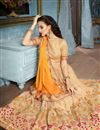 picture of Cream Function Wear Fancy Fabric Saree With Embellished Blouse