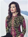 photo of Black Color Embroidered Designer Salwar Kameez In Georgette Fabric