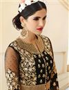 photo of Embroidered Designer Georgette Salwar Kameez In Black Color