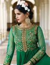 photo of Green Color Embroidered Festive Wear Georgette Salwar Suit