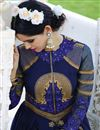 photo of Blue Color Embroidered Festive Wear Georgette Salwar Suit