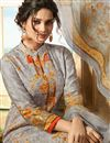 photo of Digital Print Grey Cotton Fabric Suit With Digital Print Dupatta