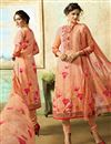 image of Digital Print Salmon Color Cotton Fabric Suit With Digital Print Dupatta