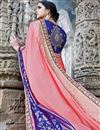 photo of Eid Special Embroidered Wedding Wear Fancy Fabric Saree In Pink