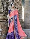 image of Designer Wedding Wear Pink Saree