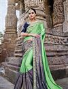 image of Wedding Function Wear Fancy Sea Green Embellished Saree