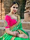 photo of Fancy Green Party Wear Designer Saree