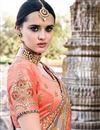photo of Eid Special Fancy Fabric Party Wear Saree In Dark Beige
