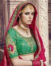 photo of Function Wear Crimson Color Traditional Banarasi Silk Saree With Work