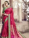 image of Function Wear Crimson Color Traditional Banarasi Silk Saree With Work