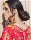 photo of Red Designer Festive Wear Saree With Embroidery Work In Banarasi Silk