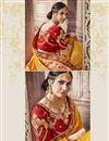 photo of Wedding Wear Mustard Banarasi Silk Traditional Saree With Work