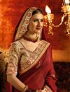 photo of Festive Wear Saree With Embroidery Work In Maroon Art Silk Fabric