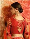 photo of Art silk Orange Sangeet Wear Saree With Embroidery Work And Blouse