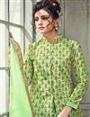 photo of Designer Art Silk Sea Green Gown Style Readymade Anarkali Salwar Kameez