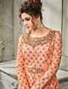 photo of Designer Salmon Color Art Silk Gown Style Readymade Anarkali Salwar Kameez
