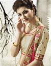 photo of Art Silk Embellished Fancy Designer Saree In Cream And Rani