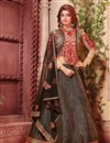image of Beatific Wedding Wear Designer Fancy Fabric Lehenga Choli in Black Color