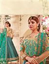 photo of Cardinal Teal Color Fancy Fabric Designer Lehenga Choli with Embroidery