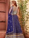 photo of Delectable Fancy Fabric Designer Lehenga Choli in Blue Color
