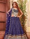 image of Delectable Fancy Fabric Designer Lehenga Choli in Blue Color