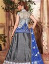photo of Fictitious Fancy Fabric Embroidered Lehenga Choli in Grey Color