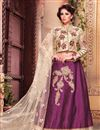 image of Hypnotic Magenta Color Wedding Wear Designer Lehenga Choli in Fancy Fabric